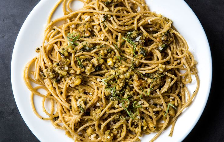 Break free from your usual basil-and-pine-nut routine with a wintry pesto that…