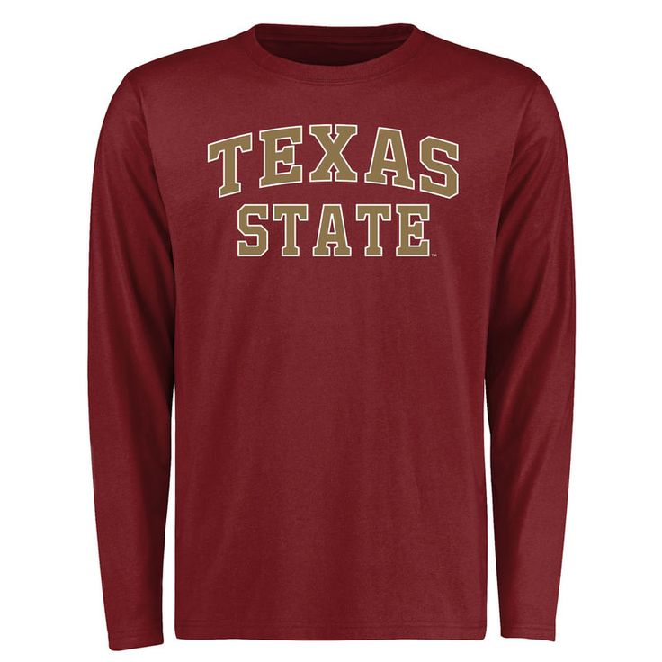 Texas State Bobcats Everyday Long Sleeve T-Shirt - Maroon