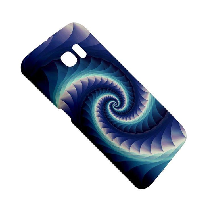 Purple+&+Aqua+Spiral+Fractal++Samsung+Galaxy+S6+Edge+Hardshell+Case