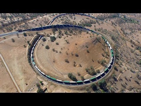 Tehachapi Loop in real time 4K (August 31, 2015) - YouTube