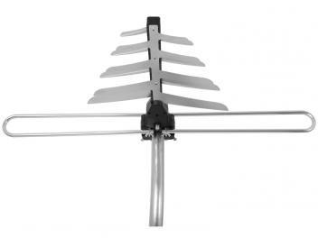 Kit de Antena Digital/Analógico Intelbras Externa - AE 4010 O Kit antena externa de TV AE 4010, é um kit completo para alta definição de imagem em canais analógicos ou digitais. Antena destinada a ambientes externos, compacta e com alto poder de captação, além de mastro com suporte de fixação na parada e 20 metros de cabo coaxial para conectar a antena à TV. Possui misturador de sinal e balun. Todos os componentes são fabricados com materiais de alta resistência e durabilidade.