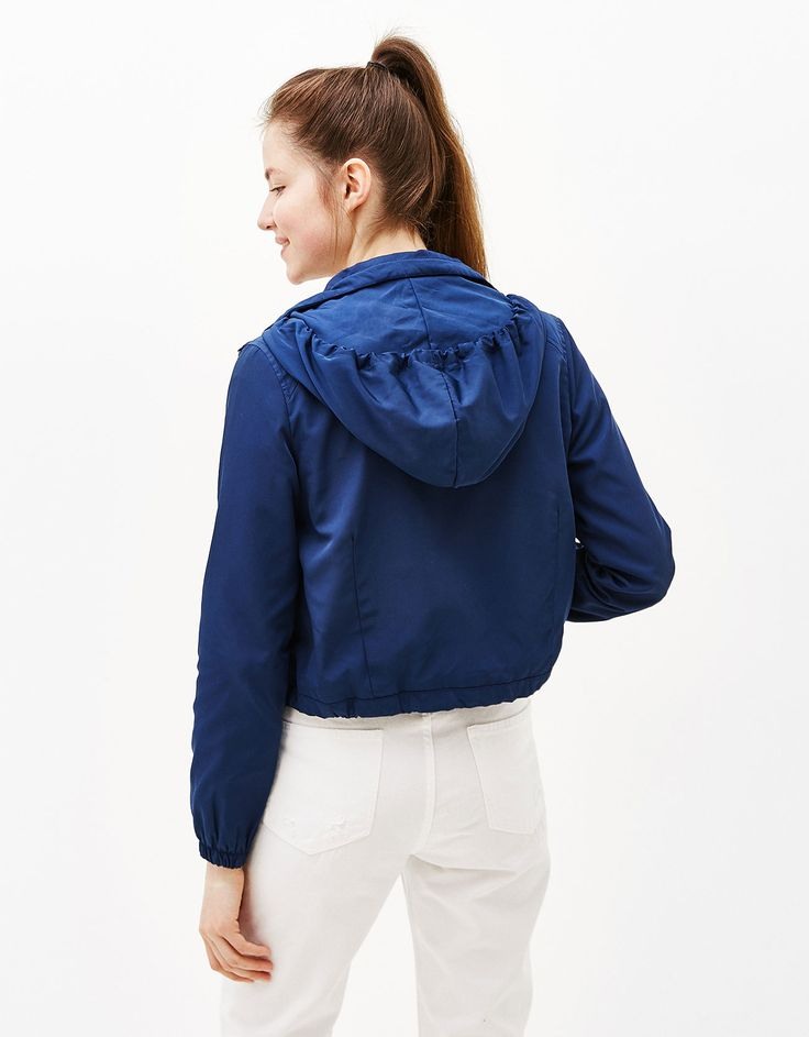 Nylon jacket with hood. Discover this and many more items in Bershka with new products every week