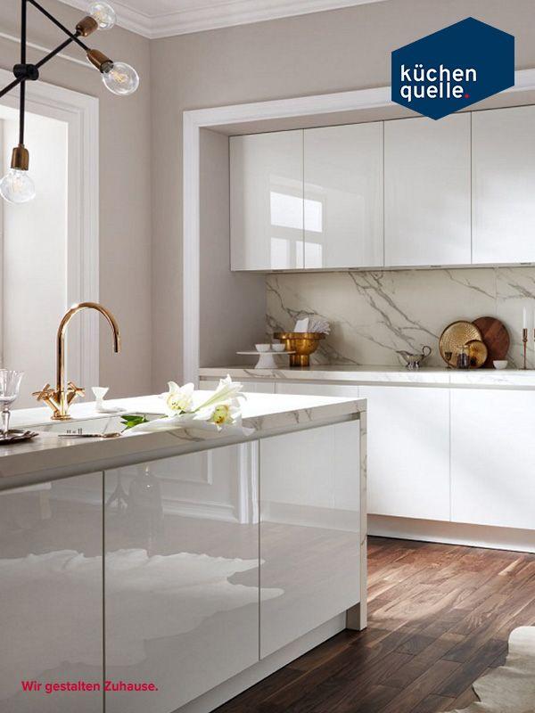 Cleanes Kuchendesign Trendig Und Zeitlos Einbaukuche Kuche Hochglanz Kuchen Design