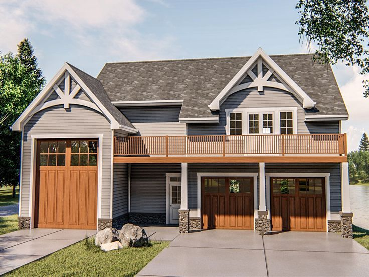 050g 0096 Carriage House Plan With 2 Bedrooms Drive Thru Rv Bay And Double Garage Carriage House Plans Garage Plans With Loft Carriage House Garage