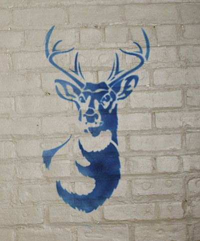 Stencil1 Large Antlered Deer stencil S1_01_52L by Stencil1 on Etsy, $29.99