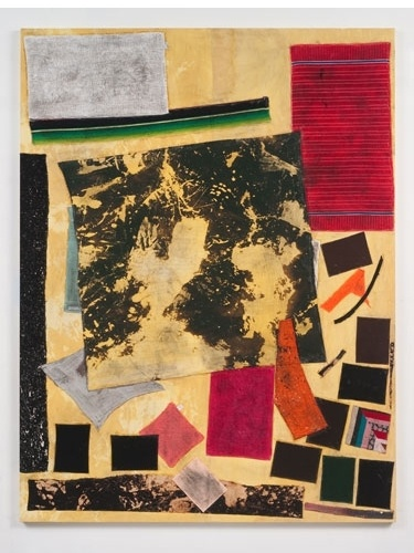 Sterling Ruby BC (3785), 2012 collage, paint, bleach, glue, fabric on wood