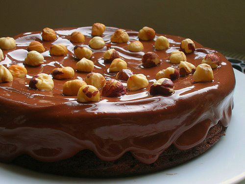 Nigella Lawson's Nutella Cake With Chocolate Hazelnut Ganache- I've been meaning to make this for years and lucky me it turns out to be gluten-free!