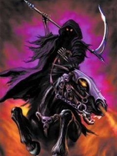 femal gothic grim repers Reaper On Horseback wallpapers