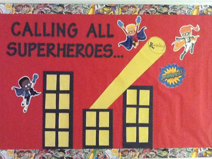 Superhero Board Bulletin Boards Amp Doors Pinterest