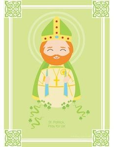 Patron Saint printables, make a matching game or book for the Mass bag?