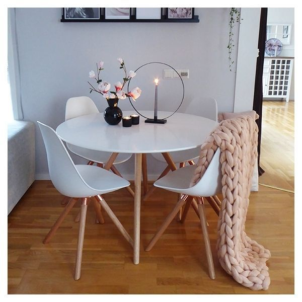 Moda Cd2 Dining Set 1 Round Table 4, Round Table Promosi