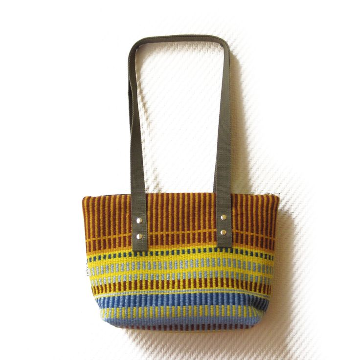 Bag made from traditional Finnish woven textile.
