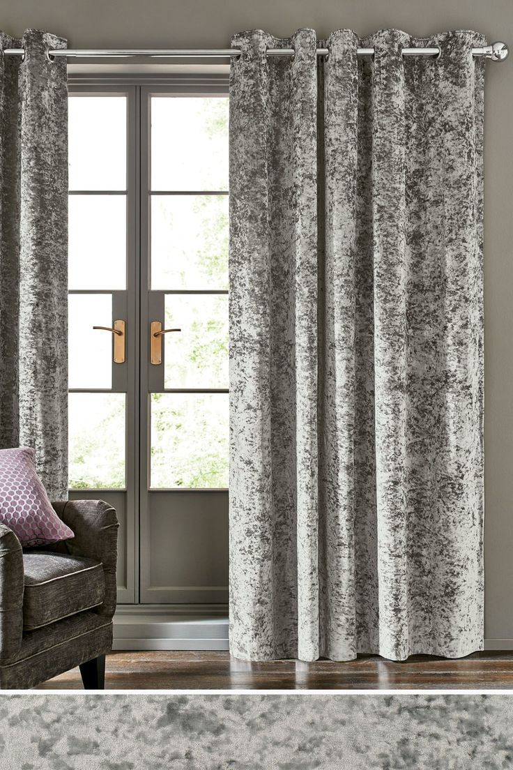 Couldn t find a picture of the curtains anywhere online this is - Buy Crushed Velvet Eyelet Curtains From The Next Uk Online Shop