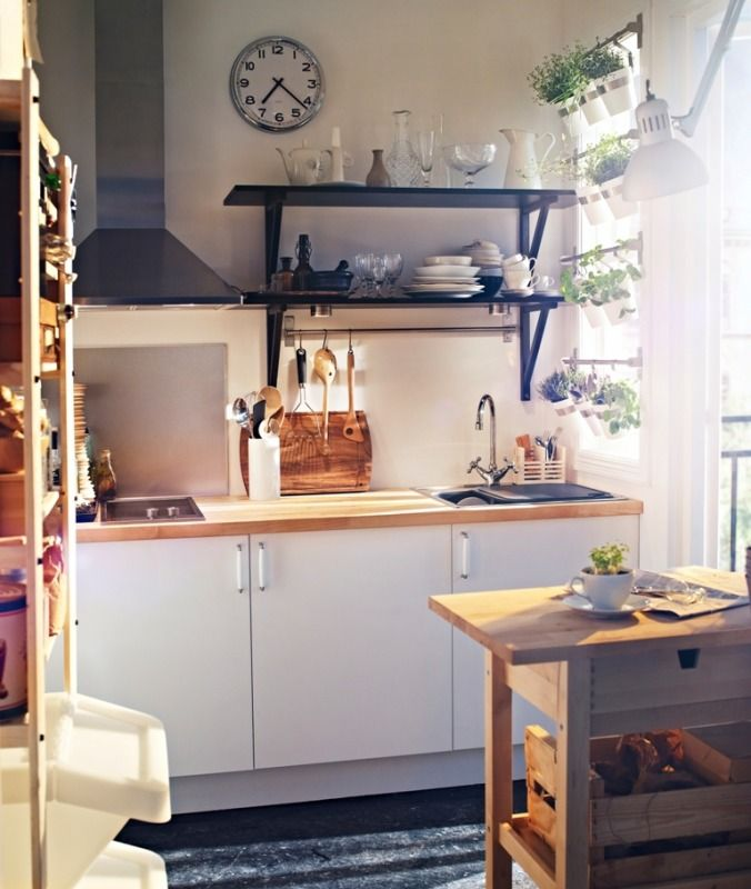 68 best Küche images on Pinterest Ikea kitchen, Kitchen ideas - kleine küche mit kochinsel