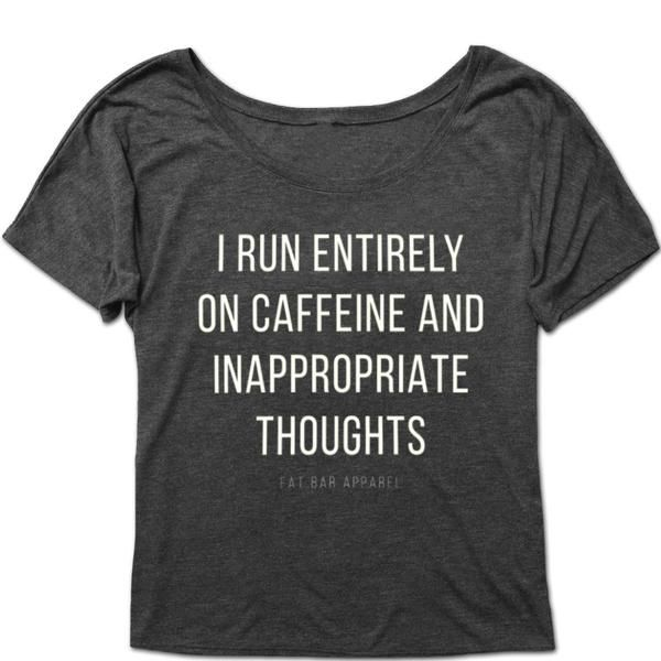 Women's Comfy Tee - CAFFEINE & THOUGHTS