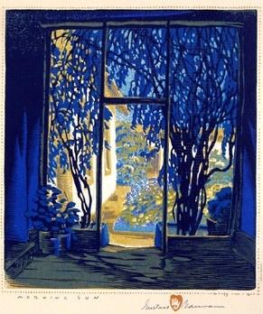 Woodblock by Gustav Baumann