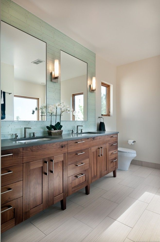 Small Double Vanity Bathroom Contemporary with Granite Countertop industrial Soap Dishes and Holders