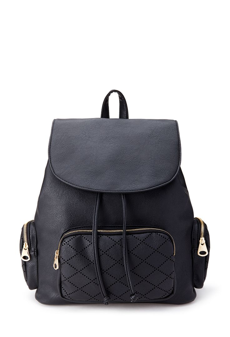 Laser Cut Faux Leather Backpack ($32.80) | Back To School Must-Haves