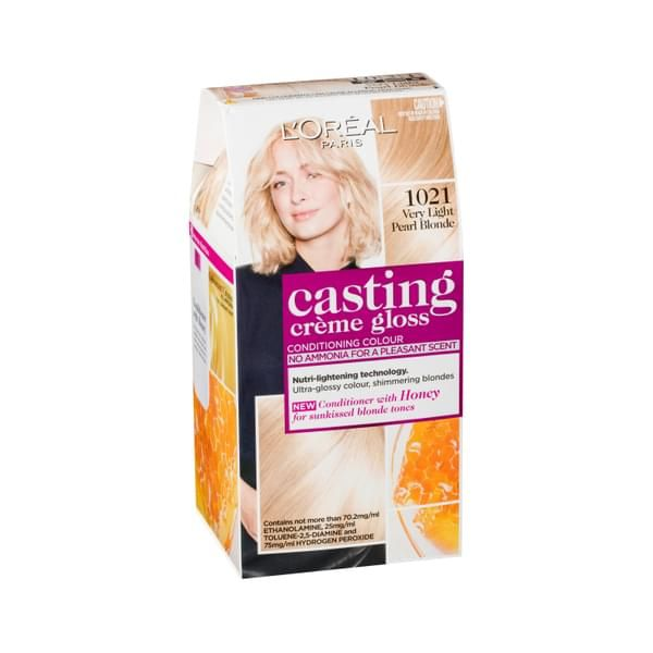 L 39 Oreal Casting Creme Gloss 1021 Very Light Pearl Blonde Loreal Casting Creme Gloss Loreal Pearl Blonde