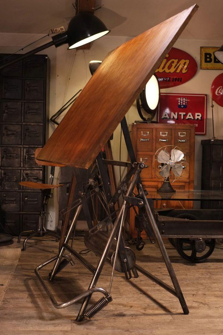 1000 id es sur le th me dessins industriels sur pinterest croquis de produi - Table d architecte ancienne ...