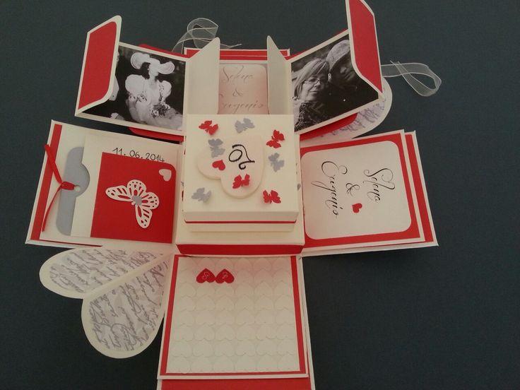 Explosion box 20 th wedding anniversary with mini album inside