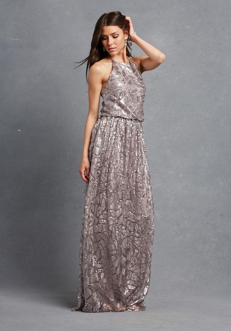 unique + fabulous crinkle metallic bridesmaid dress option