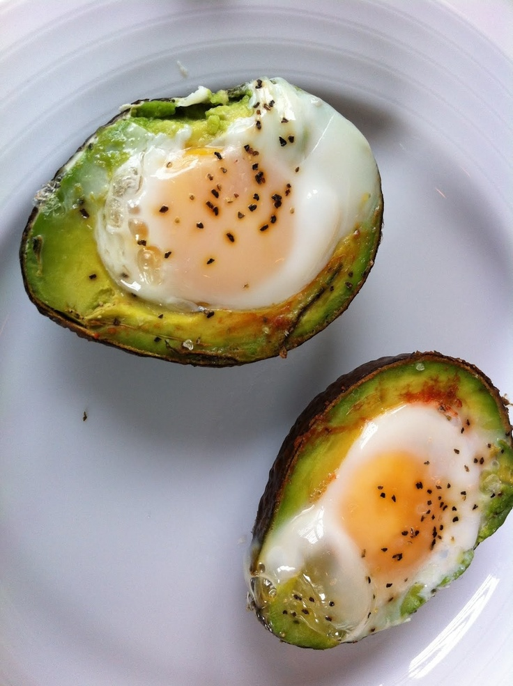Baked avocado egg bowl