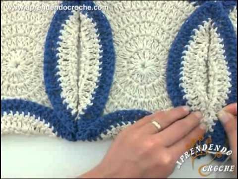 Tapete de Crochê Folheado com Barbante - Aprendendo Crochê