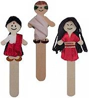 international icypole stick characters could make them sporty figures for olympic theme.