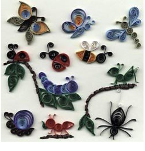 Insects paper quilling pinterest insects quilling for Big quilling designs