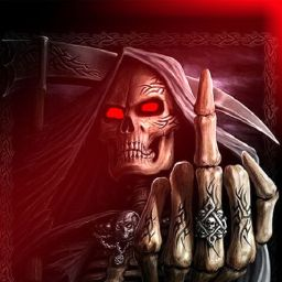 Grim Reaper Giving the Finger | Gentlemen, you had my curiosity. But now you have my attention.