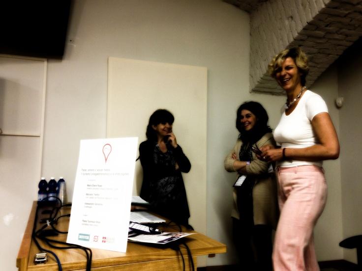 I relatori: Paola Tournour Viron, Alessandra Giovanile, Maria Elena Rossi.