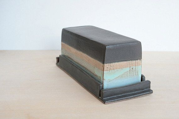 Modern Butter Dish Handmade Pottery Pastel by ClaraLanyiCeramics