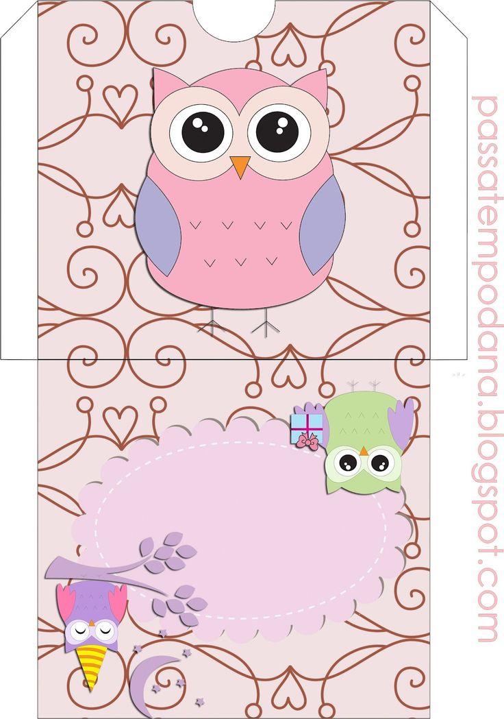 Passatempo da Ana: Kit - Corujinha (Marrom e Rosa)
