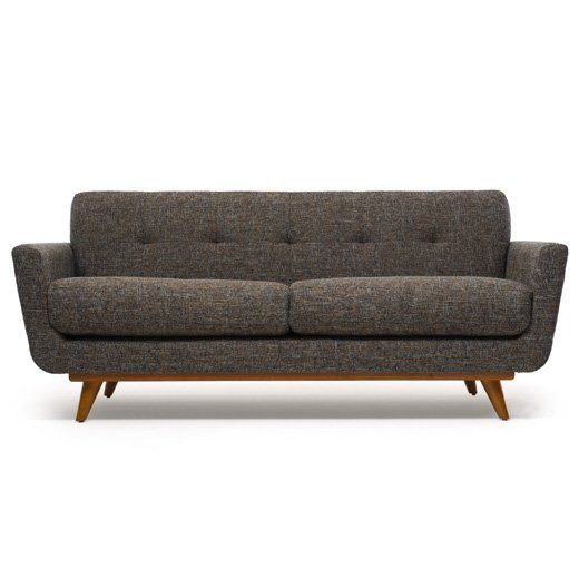 The Nixon Sofa with Wood Base by THRIVE Home Furnishings | MID-CENTURY MODERN FURNITURE If you're looking for a run-of-the-mill sofa, then keep searching. The Nixon Sofa is not for you. This blend of