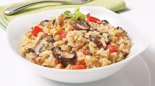 Risotto aux champignons   Recettes IGA   Riz, Fromage, Recette facile