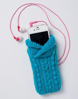 Cabled Phone Sweater FREE knitting pattern by Pat Olski      Vogue Knitting