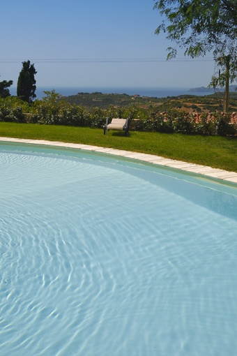 a relaxing and panoramic swimming pool