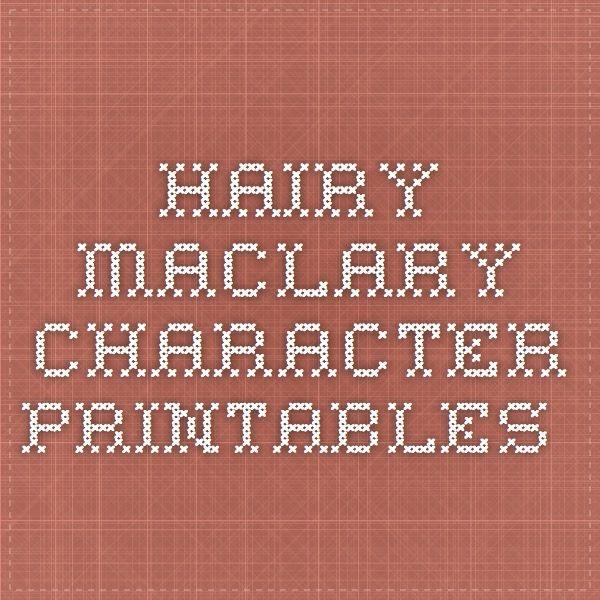 Hairy Maclary character printables