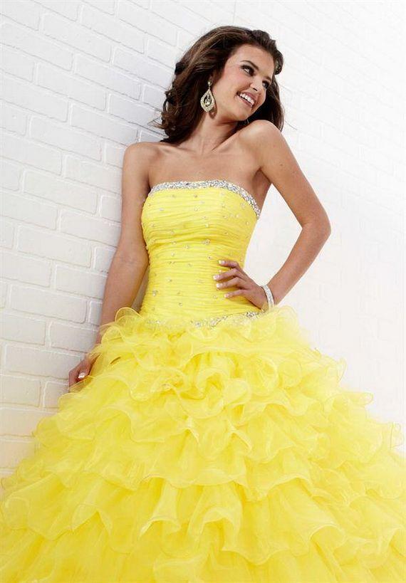 Yellow Prom Dresses 2012