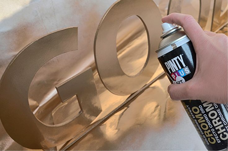 Pinty Plus chrome spray used here to update a sign novasolspray.couk