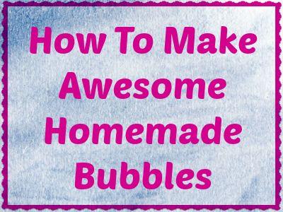 how to prepare soap bubble solution
