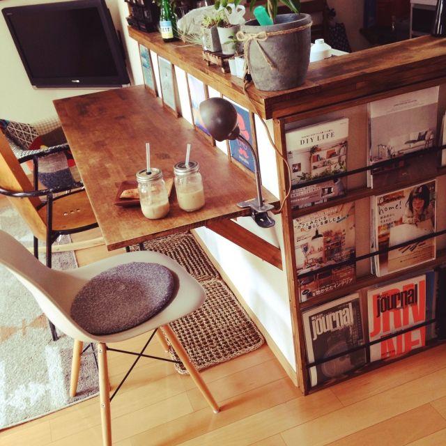 カウンターテーブル/カウンターテーブル DIY/多肉植物/雑貨/椅子…などのインテリア実例 - 2015-05-06 10:49:49 | RoomClip(ルームクリップ)