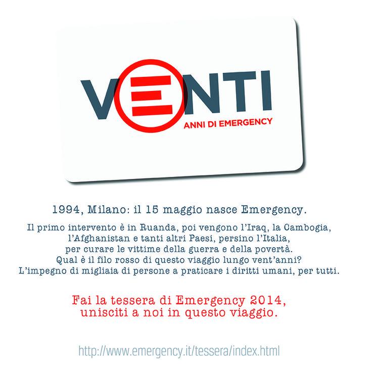 Vent'anni di @Linda Gency, la nuova #tessera #2014. Richiedila o regalala su http://www.emergency.it/tessera/index.html