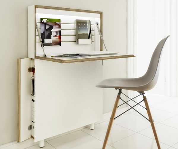 Flatmate Desk saves space by letting you fold it away when you're done.