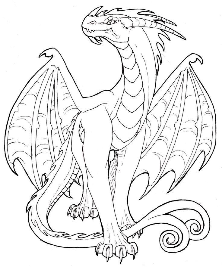 dragon lineart Google Search Dragon artwork, Dragon