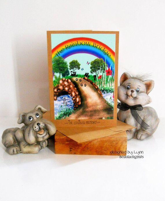 Rainbow Bridge Poem for Pet Dog  Cat Memorial by Beauladigitals