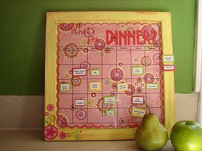 Dinner calendarGlue Guns, Girls Generation, Magnets Boards, Menu Boards, Dinner Menu, Menu Plans, Crafts Night, Meals Planners, Meals Plans