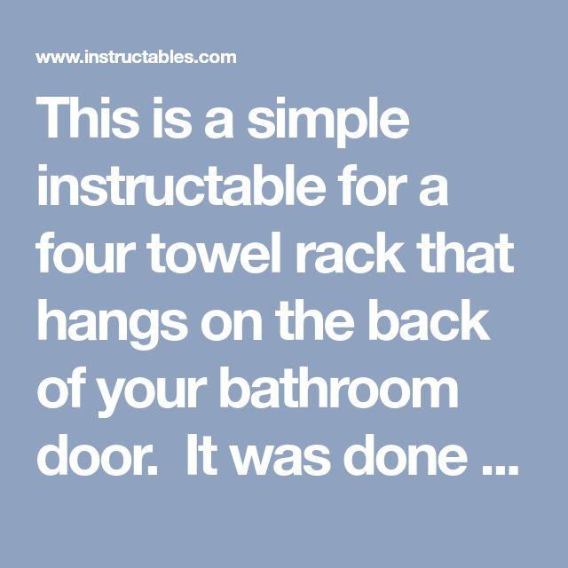 PVC Door Hinge Towel Rack | Bathroom doors, Door hinges, Towel