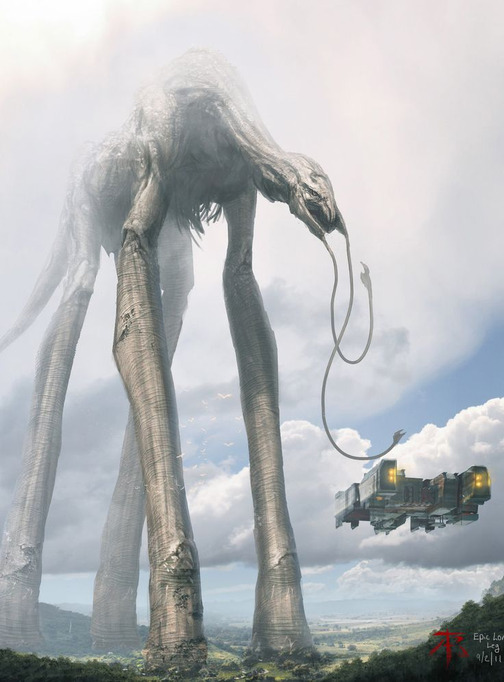 """Reminds me of creatures from Darbont's """"The Mist"""". Love giant creature features. Leviathan by 2buiArt"""